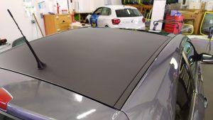 Toit après covering noir mat métallique
