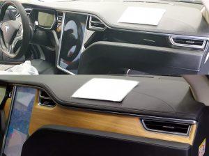 Tableau de bord Tesla S avant/aprés