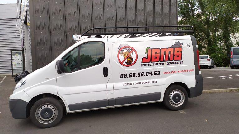 JGMS logo en impression découpe