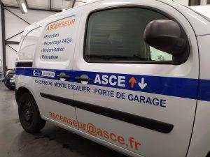 Marquage véhicule ASCE coté passager