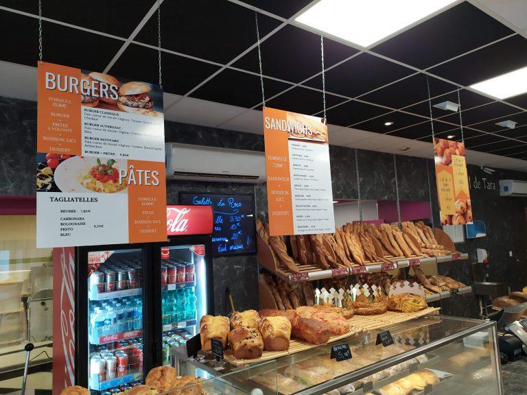 Panneau suspendus tarif boulangerie