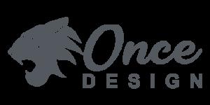 Logo Once Design gris